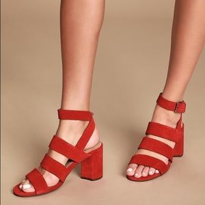 NWT Seychelles Antiques Red Suede Leather Sandals